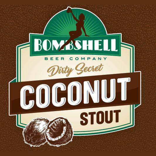 Logo of Bombshell Beer Dirty Secret Coconut Stout