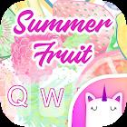 夏季水果键盘主题的女孩 icon