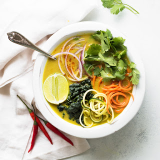 Vegetable Coconut Curry Soup.