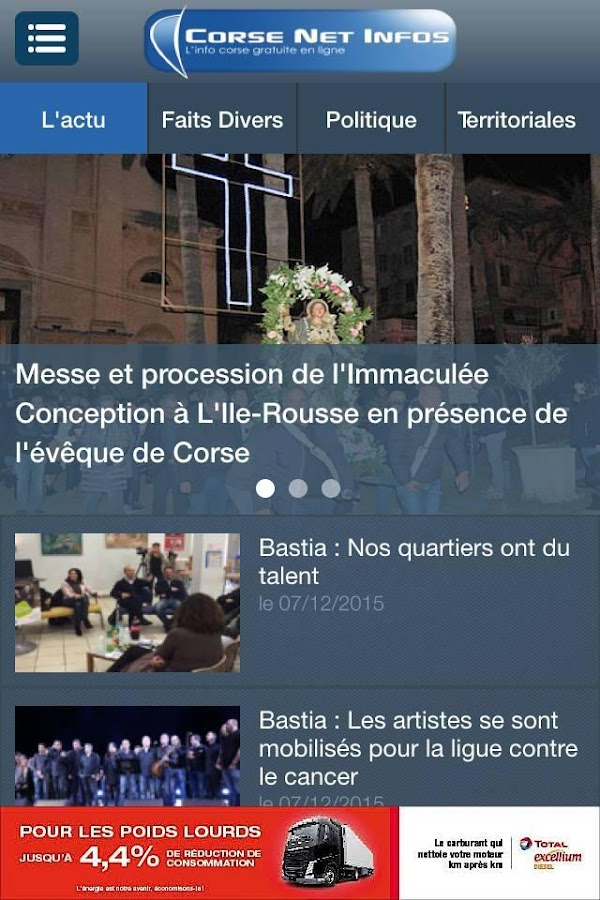 Corse Net Infos- screenshot