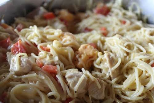 "Click Here for Recipe: Chicken Spaghetti ""This is my go to recipe..."