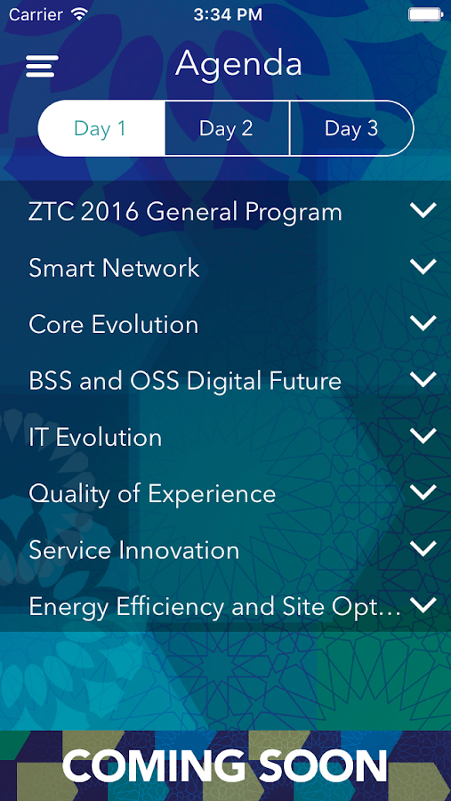 Zain Events- screenshot