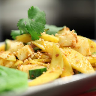 Pineapple, Mango and Cucumber Salad with Peanut Sauce (Rojak) Recipe