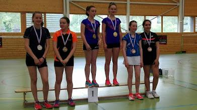Photo: Championnat d'Alsace 2016 Double Dames Minimes Médaill de Bronze: Marine Feruzi