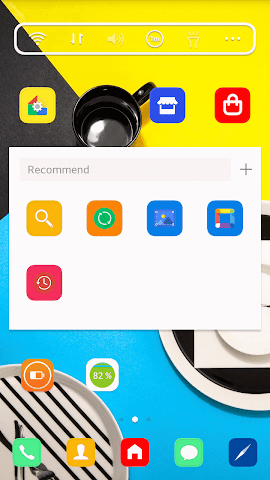 android POP Color LINE Launcher theme Screenshot 1
