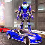 Police Car Robot Superhero icon