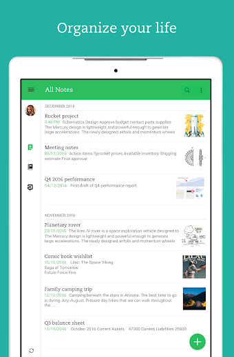 Screenshot 11 for Evernote's Android app'