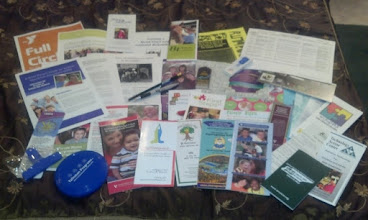 Photo: brochures and materials from the Autism Summer Fair