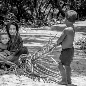 Childhood  by Iqbal Kabir - Black & White Street & Candid
