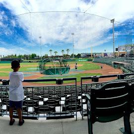 Batting Practice by Gabe Willett - Sports & Fitness Baseball ( baseball pastime ballpark kids panorama )