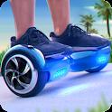 Surf con placa de balanceo 3D icon