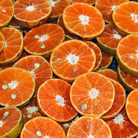 Fresh Half Cut Oranges Orange Cut in half Background Citrus Frui by James Morris - Food & Drink Fruits & Vegetables ( shutterstock, citrus fruit, fresh half cut oranges, background, fruit, orange cut in half )