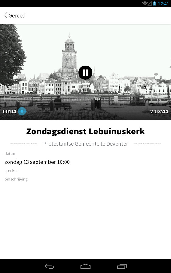 Kerkdienst Gemist- screenshot