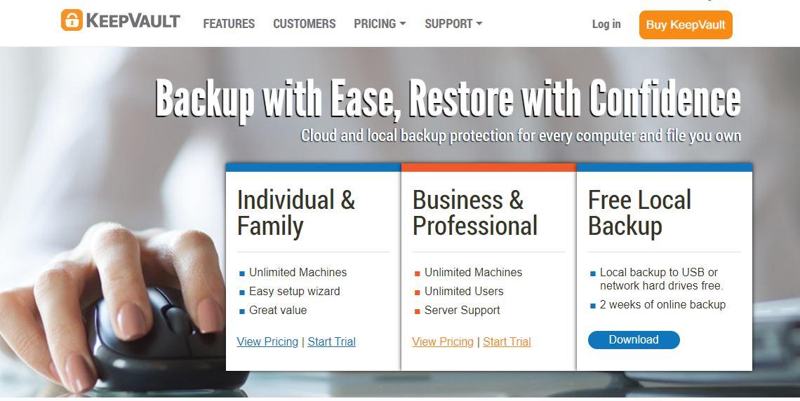KeepVault Cloud Backup Solutions