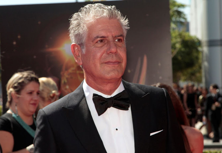 Chef and television personality Anthony Bourdain.