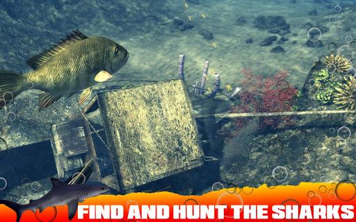 Spearfishing Wild Shark Hunter - Fishing game 1.7 screenshots 1