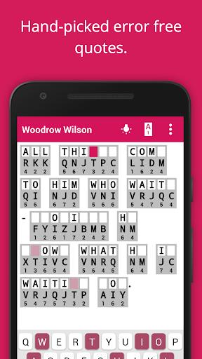 Cryptogram Cryptoquote Puzzle screenshot