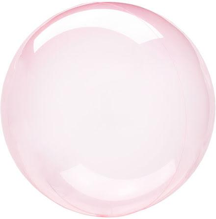 Klotballong, transparent mörkrosa 40 cm
