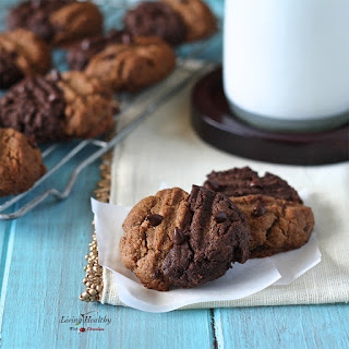 Two-toned Chewy Cookies (gluten-free, grain-free, dairy-free, Paleo).