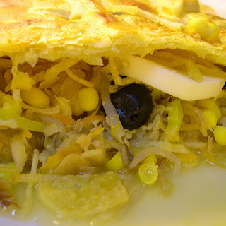 Cod Puff Pastry with Vegetables.