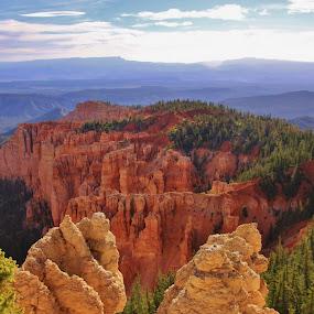 Distant Vistas by Jim Johnston - Landscapes Mountains & Hills (  )