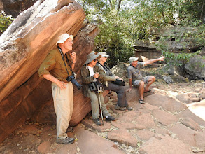 Photo: Day 2 - Ian explaining the rock art