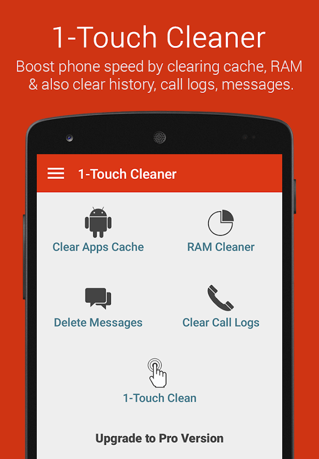 1-Touch Cache Cleaner- screenshot