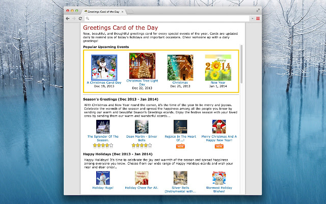 Greetings card of the day chrome web store m4hsunfo