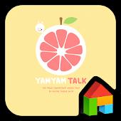 yamyam_grapeDodolLauncherTheme
