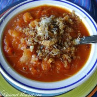 Pumpkin -Tomato Soup with Jalapeño & Cannellini Beans!!!