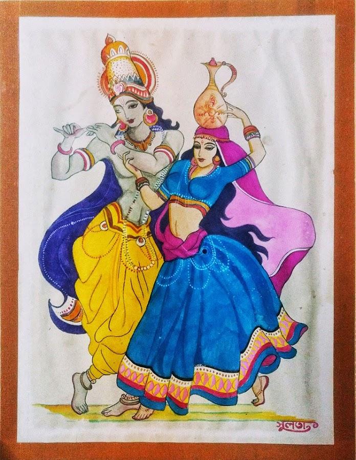 Radha Krishna by Samriddhi Dutta - Drawing All Drawing ( krishna, art, drawing )