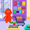 My Monster Town - Supermarket Grocery Store Games icon