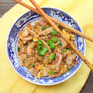 Chinese Pork and Shrimp Fried Cauliflower Rice