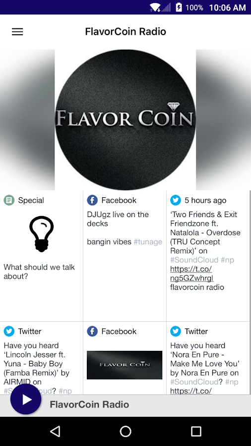 FlavorCoin Radio- screenshot