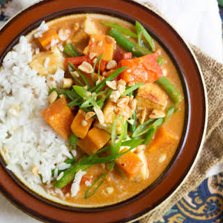 Thai Massaman Curry with Sweet Potatoes and TofuMassaman Curry Paste.