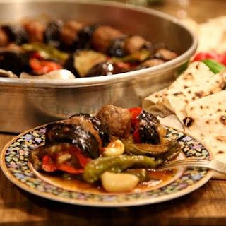 Urfa Kebab – Fried Eggplants and Meatballs Recipe