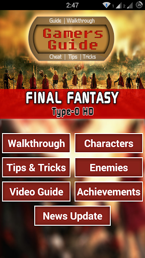 Guide for Final Fantasy T-0 HD