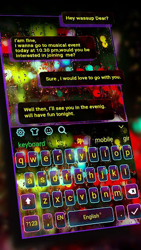 Luminous Digital Keyboard Theme for PC