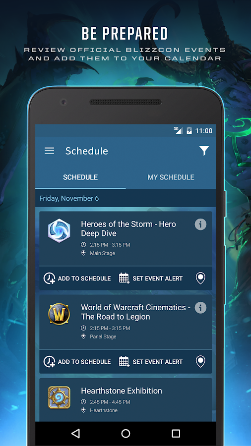BlizzCon Guide- screenshot