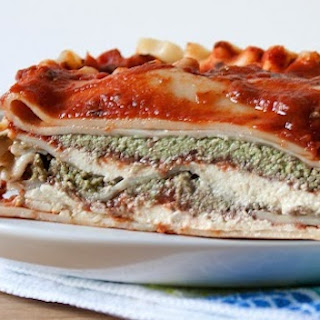 Lasagna With Cashew Crema & Pesto