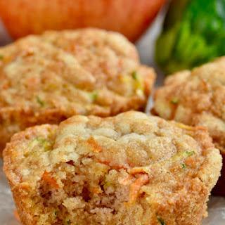 Apple Carrot Zucchini Muffins.