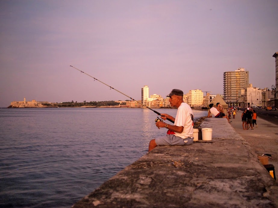 At the malecon in Havana