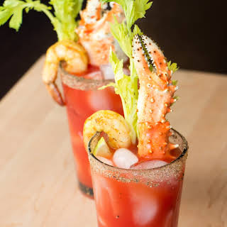 Bloody Caesar Cocktail.