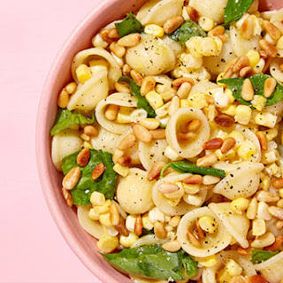 Orecchiette with Corn, Basil, and Pine Nuts