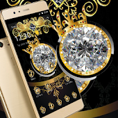 Glitter Diamond Crown Luxury Theme Android APK Download Free By Fantastic Design