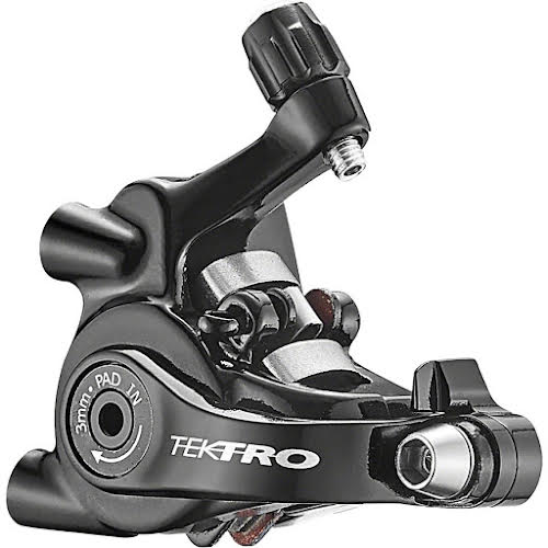 Tektro MD-C550 Dual-Piston Cable Actuated Mechanical Flat Mount Disc Caliper for Road Short-Pull Levers