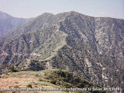 Photo: View north toward the saddle and ridge route to silver Mountain
