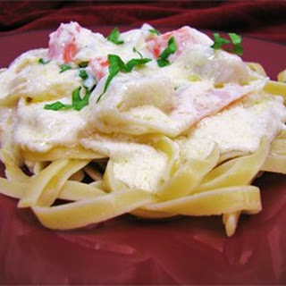 Lighter Fettuccini Alfredo