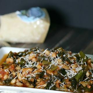 Stewed Escarole, Beans & Tomato