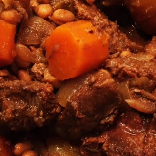 Hearty Slow Cooker Beef and Bean Stew.